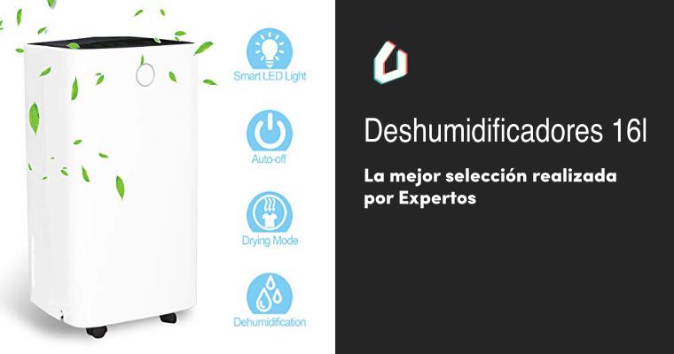 Drenaje Continuo Hengda 16L Deshumidificador El/éctrico Compacto y Port/átil d/ía con Pantalla Digital de Humedad Modo de Reposo